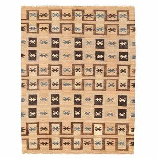 Herat Oriental Afghan Hand-woven Mimana Wool Kilim (5'5 x 7'1)