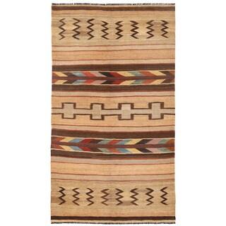 Herat Oriental Afghan Hand-woven Mimana Wool Kilim (5'2 x 9'6)