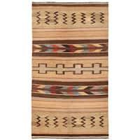 Herat Oriental Afghan Hand-woven Mimana Wool Kilim - 5'2 x 9'6