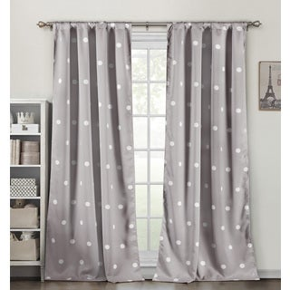 Duck River Dot Multicolor Heavy Blackout Pole-top Curtain Panel Pair
