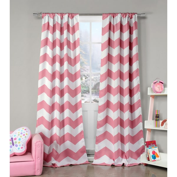 ... Dot Multicolor Polyester Heavy Blackout Pole-top Curtain Panel Pair