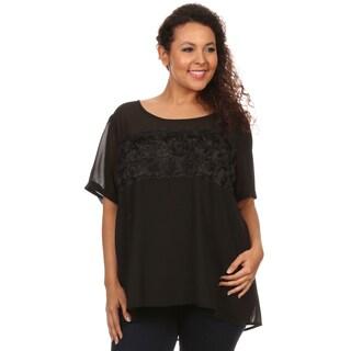 Hadari Woman Plus size Rose fabric design