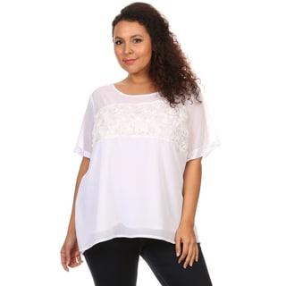 Hadari Woman Plus size top rose fabric design