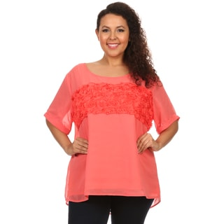Hadari woman Plus size rose fabric design top