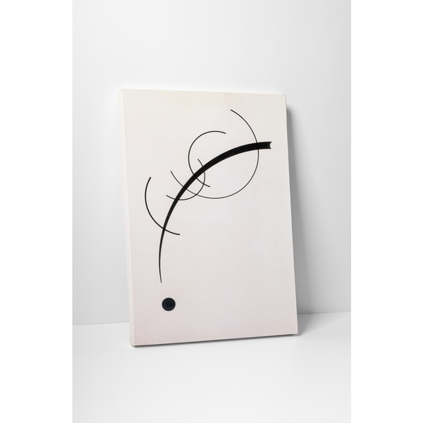 Wassily Kandinsky 'Free Curve to the Point' Gallery Wrapped Canvas Wall Art
