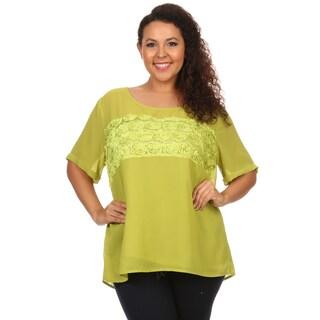 Hadari woman Plus size rose fabric design top