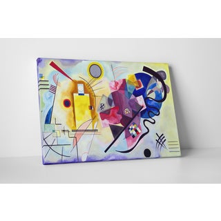 Wassily Kandinsky 'Jaune Rouge' Gallery-wrapped Canvas Wall Art