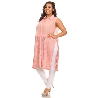 Hadari Woman Plus size sheet lace tunice