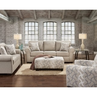 SOFA TRENDZ Clarissa Smoke Sofa and Loveseat Set