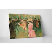 Classic Masters Henri de Toulouse-Lautrec 'At the Moulin Rouge' Gallery Wrapped Canvas Wall Art - Green