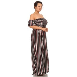 Hadari Womans Plus size off shoulders maxi dress