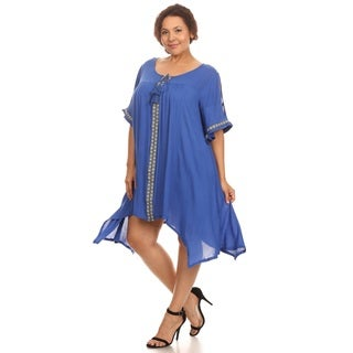 Hadari Woman's plus size boho chic dress
