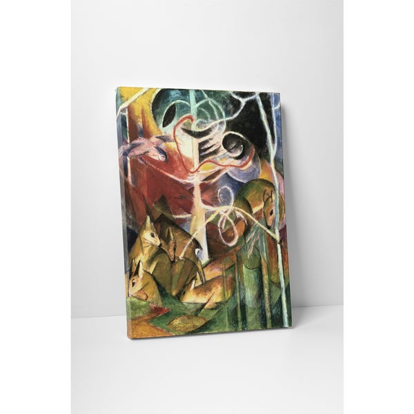 Classic Masters Franz Marc 'Deer in the Forest I' Gallery Wrapped Canvas Wall Art