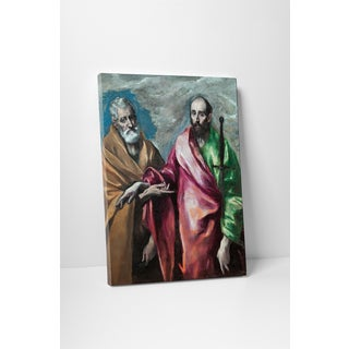 Classic Masters El Greco 'Saint Peter and Saint Paul' Gallery Wrapped Canvas Wall Art - Multi