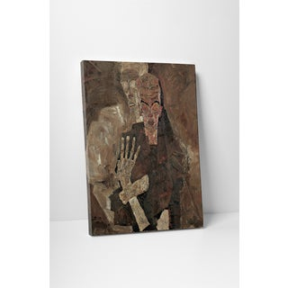 Classic Masters Schiele Egon 'Death and Man' Gallery Wrapped Canvas Wall Art
