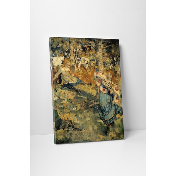 Classic Masters Edward Atkinson Hornel 'Summer' Gallery Wrapped Canvas Wall Art