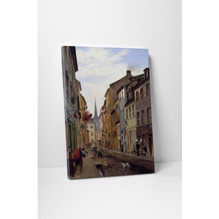 Classic Masters Gaertner Eduard 'Street Scene' Gallery Wrapped Canvas Wall Art