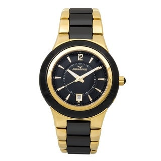 Aquaswiss Unisex Black and Gold Stainless Steel Watch