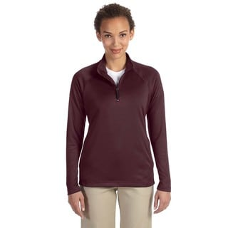 Women's Red Polyester Double Knit Tech Shell Jacket