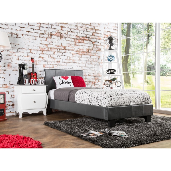 Furniture of america britney modern twin size platform bed for Today s home furniture