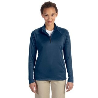 Women's Tech-Shell Navy Polyester Stretch Compass Quarter-zip Pullover|https://ak1.ostkcdn.com/images/products/12137891/P18994337.jpg?_ostk_perf_=percv&impolicy=medium