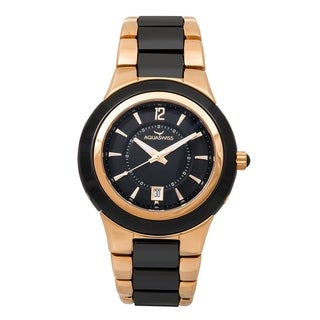 Aquaswiss C91 M 61M007 Black/Rose Goldtone Ceramic/Sapphire/Stainless Steel Unisex Watch
