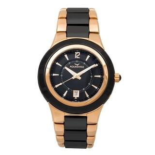Aquaswiss C91 M 61M007 Black/Rose Goldtone Ceramic/Sapphire/Stainless Steel Unisex Watch