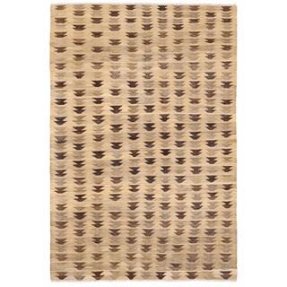 Herat Oriental Afghan Hand-woven Mimana Wool Kilim (6'2 x 9'1)
