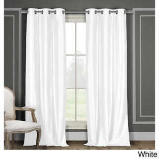 Duck River Solid Faux Silk Grommet Curtain Panel Pair (More options available)