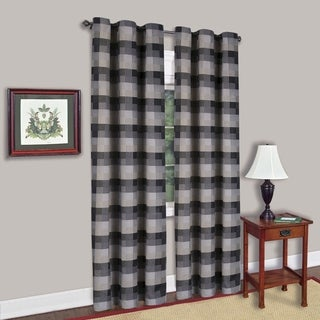 Classic Black Checkered 42-inch x 84-inch Decorative Window Panel