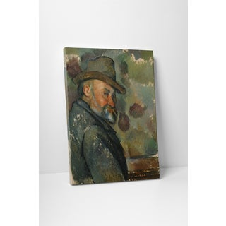 Classic Masters Paul Cezanne 'Self-Portrait With A Hat' Gallery Wrapped Canvas Wall Art
