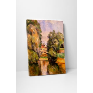 Classic Masters Paul Cezanne 'Country House By A River' Gallery-wrapped Canvas Wall Art