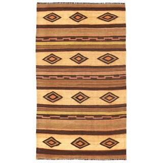 Herat Oriental Afghan Hand-woven Mimana Wool Kilim (5'9 x 9'10)
