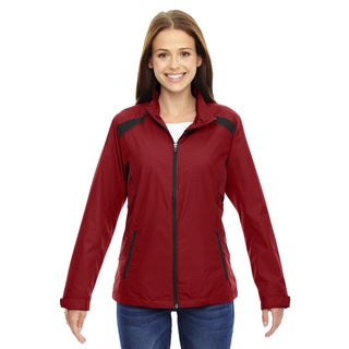 Tempo Women's Lightweight Recycled Polyester Embossed Print Classic Red 850 Jacket