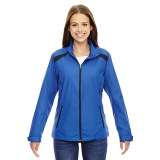 Tempo Women's 413 Nautical Blue Recycled Polyester Lightweight Jacket with Embossed Print