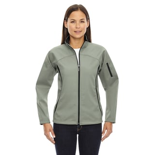 Women's 821 Celadon Green Polyester 3-layer Fleece Bonded Performance Soft Shell Jacket