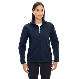 Women's 711 Midnight Navy Polyester 3-layer Fleece Soft-shell Bonded Performance Jacket