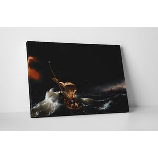 Classic Masters Backhuysen Ludolf 'Christ in the Storm on the Sea of Galilee' Gallery Wrapped Canvas Wall Art