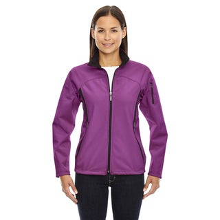 Women's 889 Plum Rose Polyester 3-layer Fleece Bonded Performance Soft Shell Jacket (5 options available)