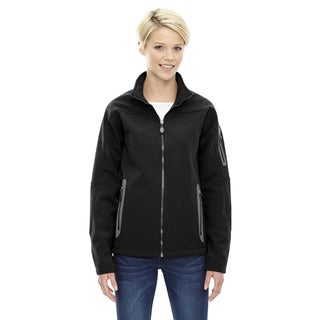 Women's 3-layer Fleece Bonded Soft-shell Technical Jacket Black 703