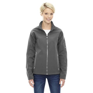 Women's Grey Fleece 3-layer Bonded Soft-shell Technical Jacket