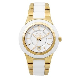 Aquaswiss Unisex White, Gold, Ceramic, and Stainless Steel Quartz Watch