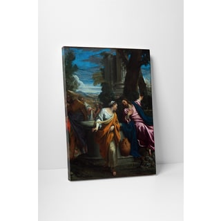 Classic Masters Annibale Cerracci 'Samartian Woman at the Well' Gallery Wrapped Canvas Wall Art