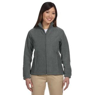 8-Ounce Women's Charcoal Full-Zip Fleece Jacket