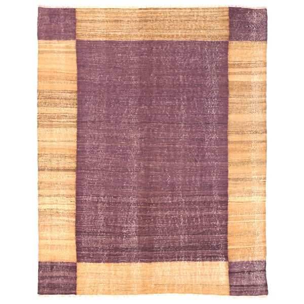 Herat Oriental Afghan Hand-woven Mimana Wool Kilim (4'10 x 6'1)