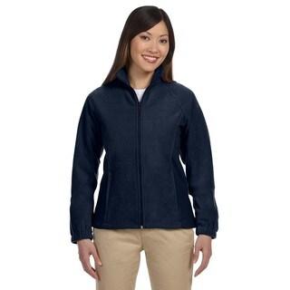 8-Ounce Women's Navy Full-Zip Fleece Jacket