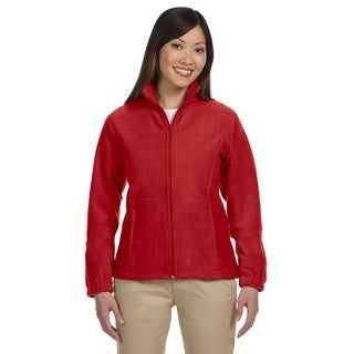 8-Ounce Women's Red Full-Zip Fleece Jacket