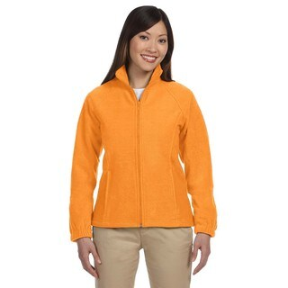 8-Ounce Women's Safety Orange Full-Zip Fleece Jacket