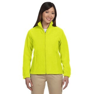 8-Ounce Women's Safety Yellow Full-Zip Fleece Jacket