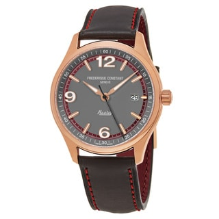 Frederique Constant Men's FC-303GBRH5B4 'Vintage Rally' Grey Dial Grey Leather Strap Limited Edition Swiss Automatic Watch